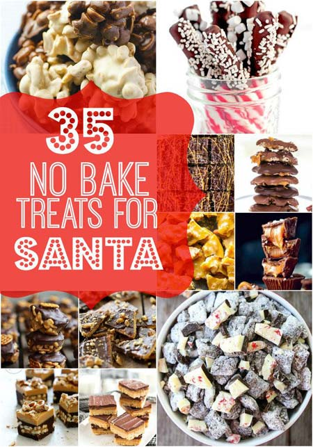 35 No Bake Treats for Santa