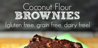 Coconut Flour Brownies: Gluten Free, Grain Free, Dairy Free (Image Source: Renees Kitchen Adventures), www.crowdink.com