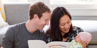 Mark Zuckerberg reading quantum physics book to daughter Max, www.crowdink.com