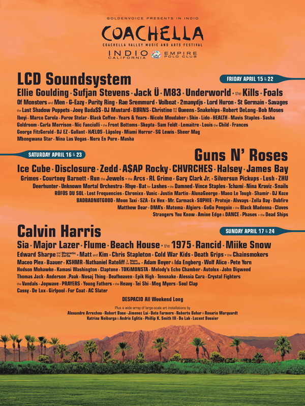Coachella Lineup, crowdink.com, crowd ink, crowdink