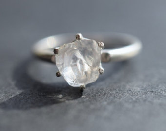 Simple Raw Diamond Engagement Ring, crowdink.com, crowdink.com.au, crowdink, crowd ink, diamond, ring, engagement ring