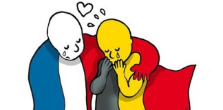 French Solidarity with Brussels, crowdink.com, crowdink.com.au, crowd ink, crowdink, brusselsattacks, open-door