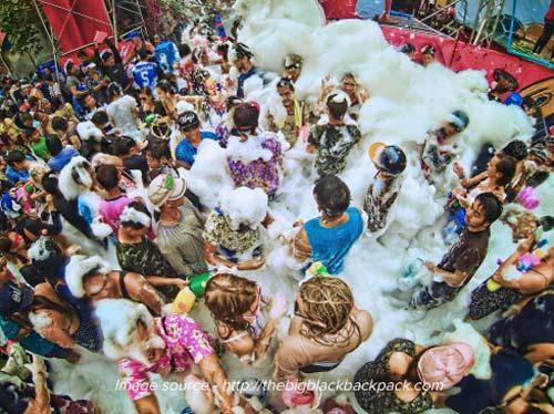 Songkran Water Festival - Thailand, crowd ink, crowdink, crowdink.com, crowdink.com.au