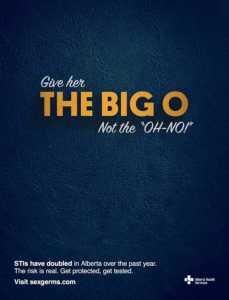 The Big O  (Image Source: sexgerms.com) crowdink.com, crowdink.com.au, crowd ink, crowdink, std, awareness