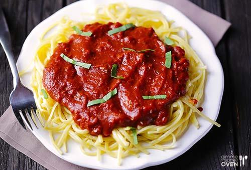Pasta with Dark Chocolate Marinara Sauce [image source: gimmesomeoven.com], crowd ink, crowdink, crowdink.com, crowdink.com.au