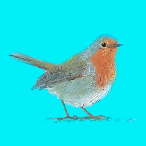Robin Bird Painting by Jan Matson, crowd ink, crowdink, crowdink.com, crowdink.com.au