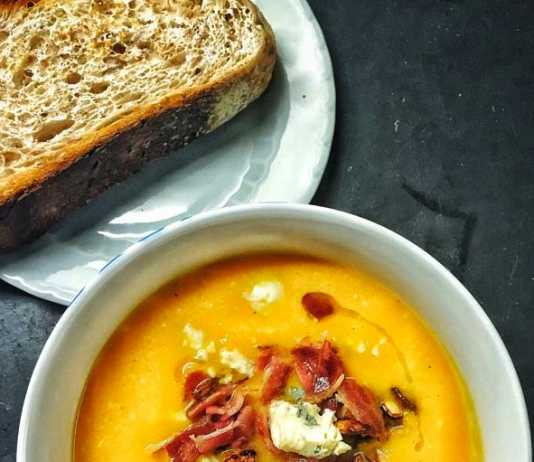 Roasted Butternut Soup with bacon and blue cheese, crowdink, crowd ink, crowdink.com, crowdink.com.au