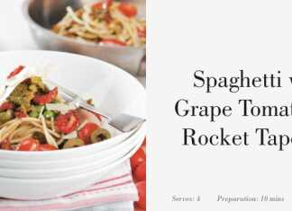 Spaghetti with Grape Tomato and Rocket Tapenade (Image Source: Sirromet), crowdink.com, crowdink.com.au, crowd ink, crowdink, wine, food, drinks,