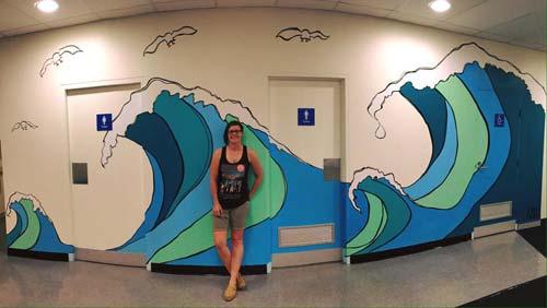 The Artist with Mural, crowdink, crowd ink, crowdink.com, crowdink.com.au