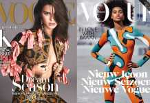 Kendall Jenner vs Iman Hammam [image source: Vogue US / Vogue Netherlands], crowd ink, crowdink, crowdink.com, crowdink.com.au