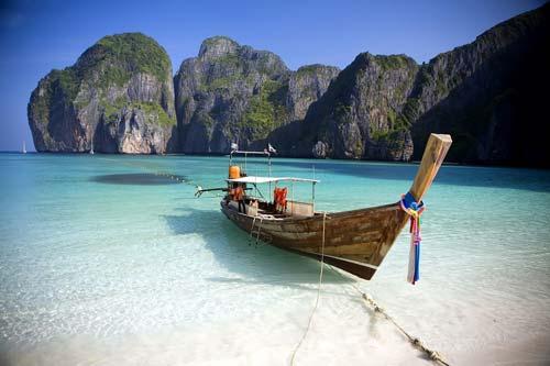 Long Tail Boat Maya Bay Koh Phi Phi Ley, Thailand, crowdink, crowd ink, crowdink.com, crowdink.com.au