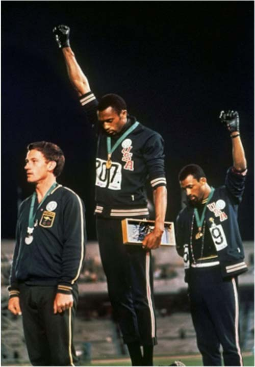 Peter Norman, Tommie Smith, and John Carlos [image source: griotmag.com], crowd ink, crowdink, crowdink.com, crowdink.com.au