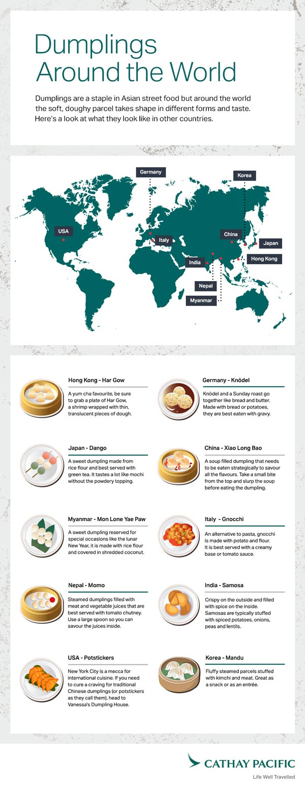 Cathay Pacific Dumplings Infographic, crowdink.com, crowdink.com.au, crowd ink, crowdink