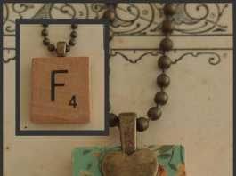 Recycled Scrabble Tile Necklace by Alice & Katherine, crowd ink, crowdink, crowdink.com, crowdink.com.au