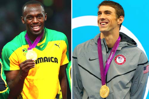 Michael Phelps and Usain Bolt [image source: bleacherreport.com], crowd ink, crowdink, crowdink.com, crowdink.com.au