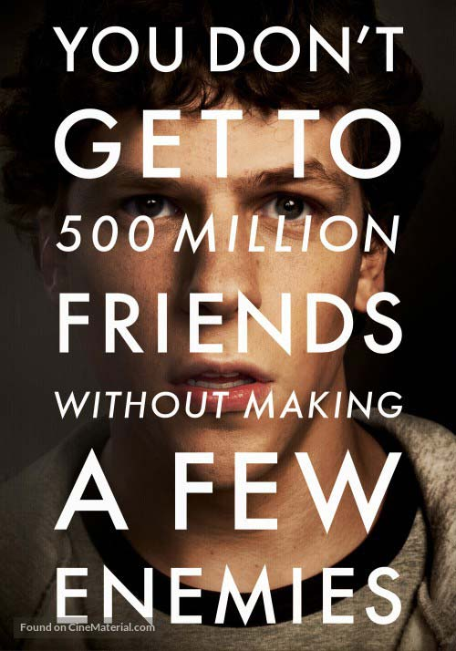 The Social Network [image source: cinematerial.com], crowd ink, crowdink, crowdink.com, crowdink.com.au