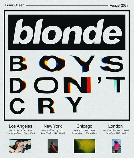 Blonde [image source: frankocean.tumblr.com], crowd ink, crowdink, crowdink.com, crowdink.com.au