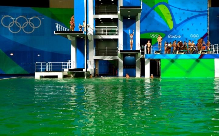 Algae in the Olympic Pool [image source: telegraph.co.uk], crowd ink, crowdink, crowdink.com, crowdink.com.au
