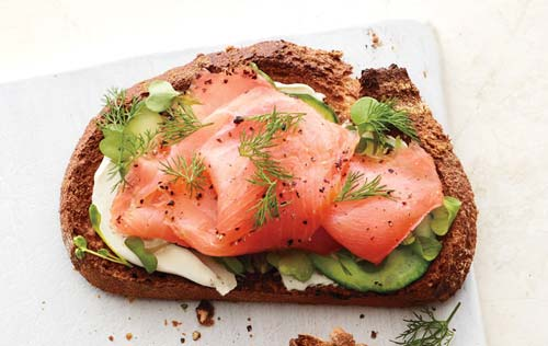 Salmon and Cucumber Toast [image source: self.com], crowd ink, crowdink, crowdink.com, crowdink.com.au