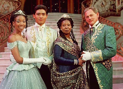 Brandy, Paolo Montalban, Whoopi Goldberg, and Victor Garber in Cinderella [image source: fusion.net], crowd ink, crowdink, crowdink.com, crowdink.com.au