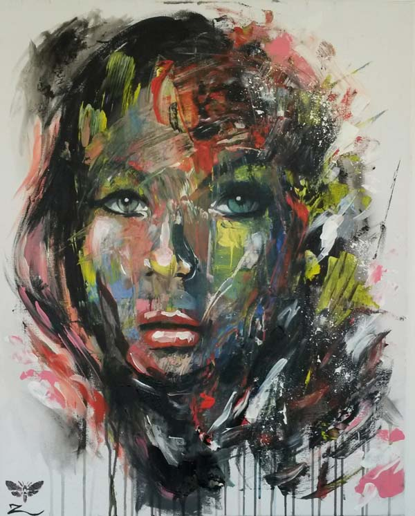 rohn s oil and acrylic portraits are blurring abstract and realism