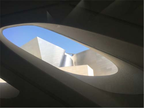 Looking at the Walt Disney Concert Hall from inside The Broad, crowdink.com.au, crowdink.com, crowd ink, crowdink