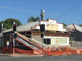Nudgee Road Fish and Chip Shop Damage . Picture. (Image Source: Tara Croser The Courier Mail)
