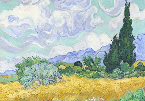 Wheatfield with Cypresses by Vincent Van Gogh (Image Source:  National Gallery of Victoria ), crowdink.com, crowdink.com.au, crowdink, crowd ink