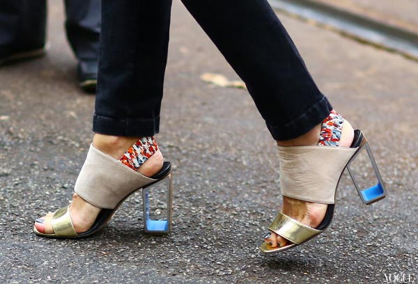Crowdink.com, crowdink.com.au, crowd ink, crowdink, Fashion, Lifestyle, Clear Heels (Image Source: Vogue)