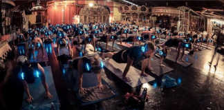 Flow After Dark Yoga Silent Disco crowdink.com, crowdink.com.au, crowd ink, crowdink
