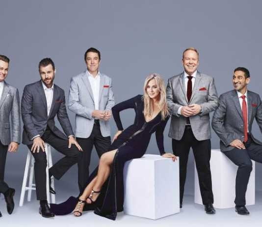 Gold Logie nominees: Grant Denyer, Rodger Corser, Samuel Johnson, Jessica Marais, Peter Helliar and Waleed Aly (Image Source: Supplied/TV Week/HeraldSun)