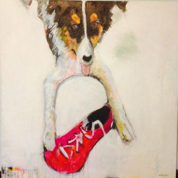 crowdink.com, art lovers Australia, artist, painting, drawing, crowdink.com.au, crowdink.com, crowd ink, crowdink Border Collie and Shoe by Kathryn Lewis, crowdink.com, crowdink.com.au, crowdink.com, crowd ink, crowdink