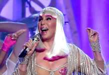 crowdink.com, crowdink.com.au, crowd ink, crowdink, Cher performing in her barely there outfit (Image Source: thefix)