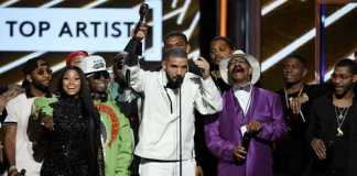 Drake winning at Billboard Awards (Image Source: people.com), crowdink.com, crowdink.com.au, crowd ink, crowdink