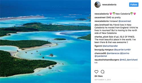 crowdink.com, crowdink.com.au, crowd ink, crowdink, New Caledonia (@newcaledonia Instagram Page)
