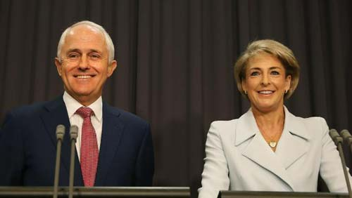 Malcolm Turnbull and Minister for Employment Sen. Michaella Cash (Image Source: herladsun)