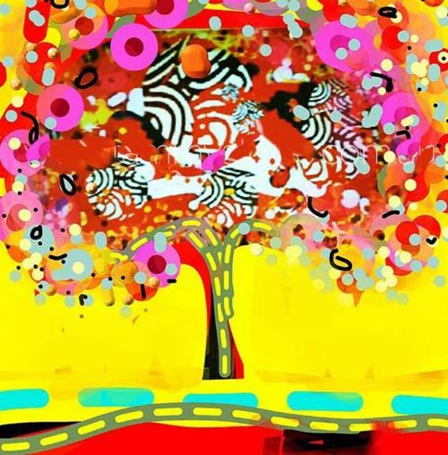 crowdink.com, crowdink.com.au, crowd ink, crowdink, Calypso Tree by Tabitha Stowe