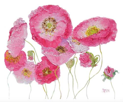 crowdink.com, crowdink.com.au, crowd ink, crowdink, Poppy Painting On White Background by Jan Matson