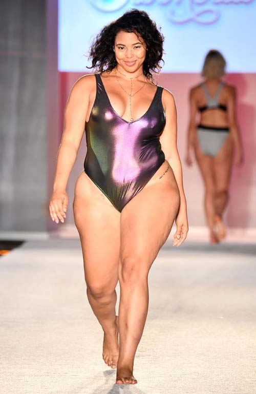 Excited Plus size sports illustrated swimsuit model remarkable