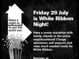 White Night Ribbon, crowdink.com, crowdink.com.au, crowd ink, crowdink