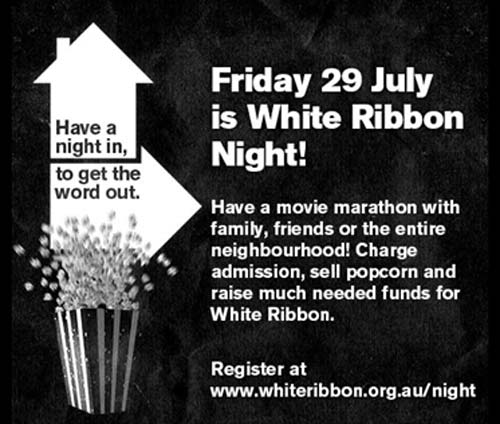 White Night Ribbon, crowdink.com, crowdink.com.au, crowd ink, crowdink