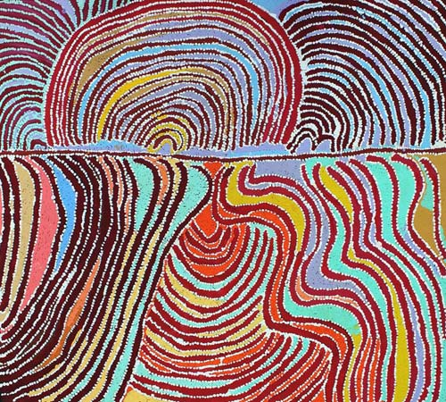 crowdink.com, crowdink.com.au, crowd ink, crowdink,, Liddy Napanangka Walker Wakirlpirri Jukurrpa (Dogwood Tree Dreaming)