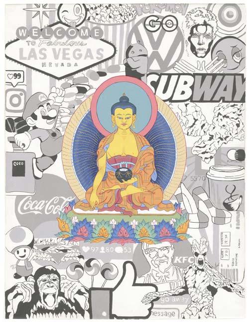 crowdink.com, crowdink.com.au, crowd ink, crowdink, Samsara:Nirvana by Damien Pascoe