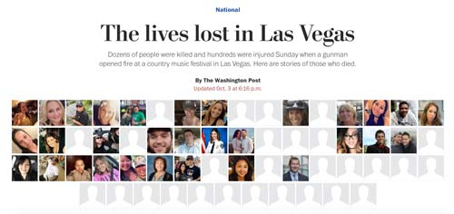 crowdink.com, crowdink.com.au, crowd ink, crowdink, The Lives Lost in Las Vegas (Source: Washington Post)
