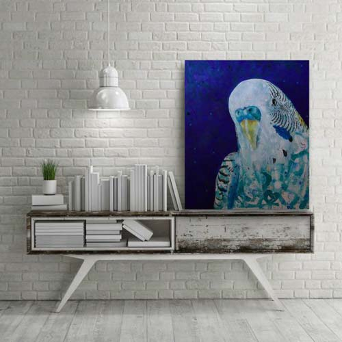 crowdink.com, crowdink.com.au, crowd ink, crowdink, Budgie Love by Michelle Gilks