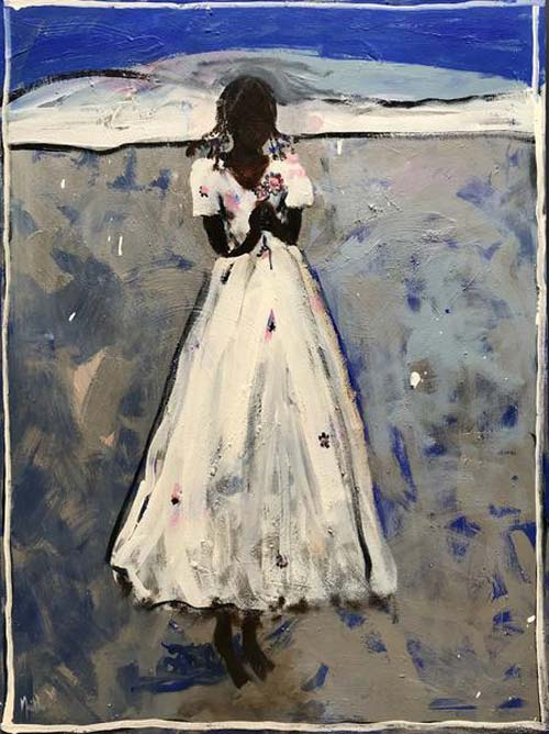 GIRL IN A WHITE DRESS by John Maitland