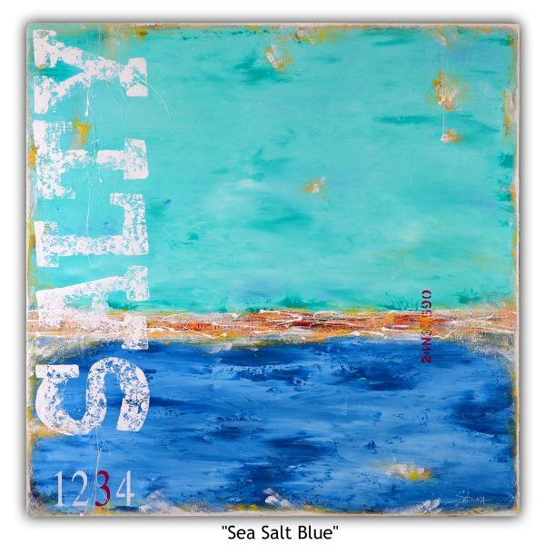 Sea Salt Blue (abstract landscape) Sabina D'Antonio