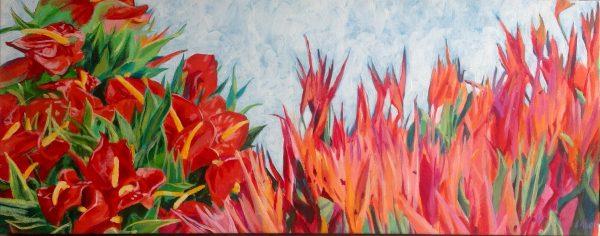 Market Flowers by Lorraine Abernethy