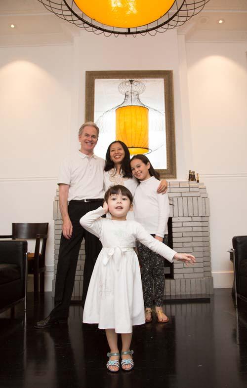 Kevin, Ririn, Indita and Ysabella Yaxley