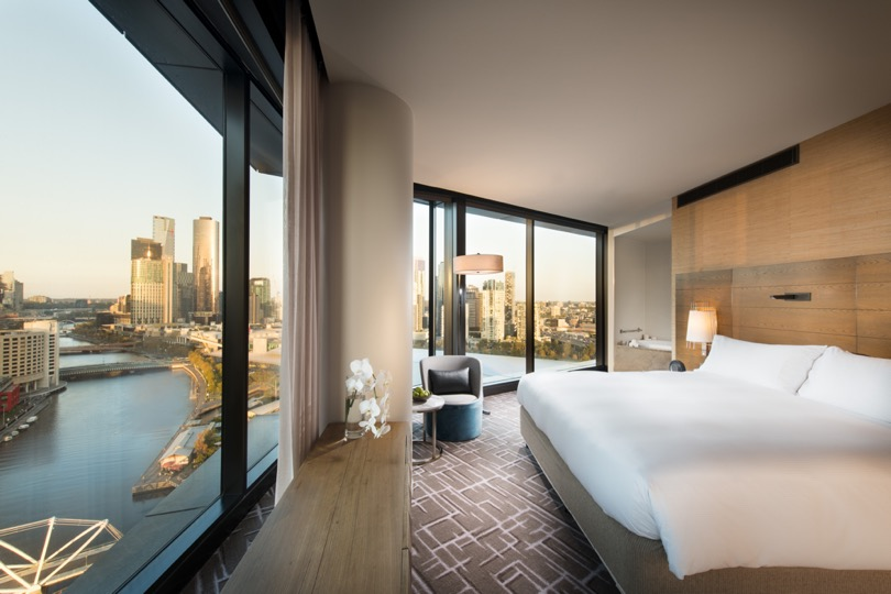 Pan Pacific Melbourne Panoramic Suite Bedroom